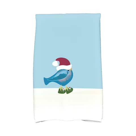 16 x 25-inch, Merry Christmas Bird, Animal Print Hand Towel