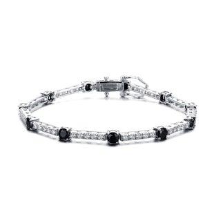 Collette Z Sterling Silver Dazzling Cubic Zirconia Tennis Style Bracelet