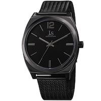 Joshua & Sons Men's Quartz Easy-to-Read Black Stainless Steel Bracelet Watch