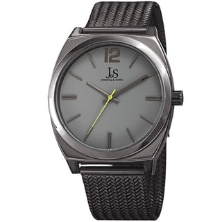Joshua & Sons Men's Quartz Easy-to-Read Grey Stainless Steel Bracelet Watch