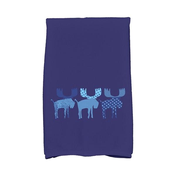 16 x 25-inch, Merry Moose, Animal Print Hand Towel