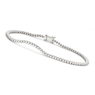 Collette Z Cubic Zirconia Round Bezel-set Bracelet - White