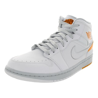 Nike Men's Jordan 1 Retro '86 White/Kumquat/Pure Platinum Basketball Shoe