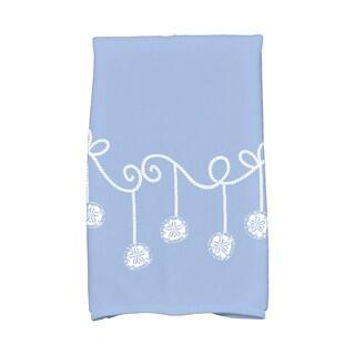 16 x 25-inch, Sanddollar Ornaments, Geometric Print Hand Towel