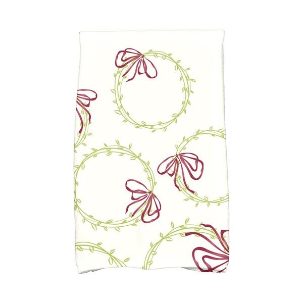 16 x 25-inch, Simple Wreath, Geometric Print Hand Towel