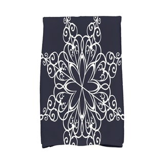 16 x 25-inch, Snowflake, Geometric Print Hand Towel