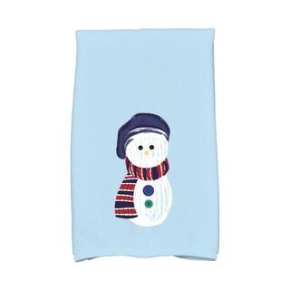 16 x 25-inch, Sock Snowman, Geometric Print Hand Towel