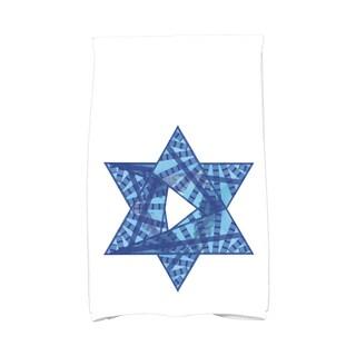 16 x 25-inch, Star Mosaic, Geometric Print Hand Towel