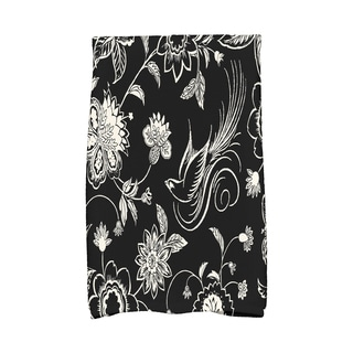 16 x 25-inch, Traditional Bird Floral, Floral Print Hand Towel