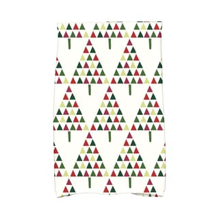 16 x 25-inch, Triangle Trees 2, Geometric Print Hand Towel