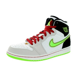 Nike Jordan Men's Air Jordan 1 Retro '93 White/Elctrc G/Black/Ntrl Basketball Shoe