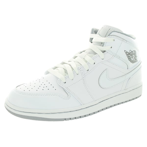100% authentic b90c6 ff96f Nike Jordan Men  x27 s Air Jordan 1 Mid White White Wolf