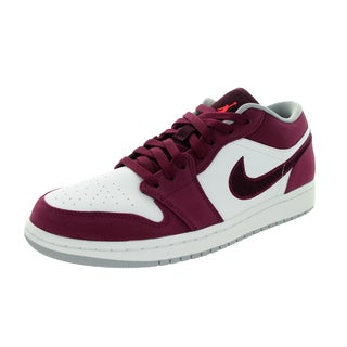 Nike Jordan Men's Air Jordan 1 Low Brdx/White/Wlf Basketball Shoe