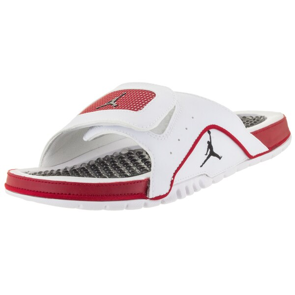 cd94bb32c Shop Nike Men s Jordan Hydro Iv Retro White Black Gym Red Sandal ...