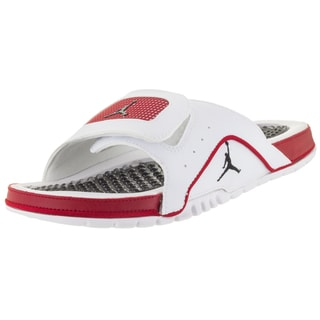 Nike Men's Jordan Hydro Iv Retro White/Black/Gym Red Sandal