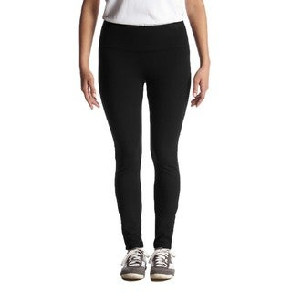 Women's Full-length Black Nylon/Spandex Dry-wicking Leggings