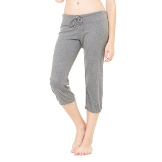 Capri Women's Deep Heather Cotton/Polyester Scrunch Pants