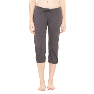 Women's Dark Grey Scrunch Capri Pant