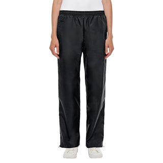 Conquest Women's Black Nylon Athletic Woven Pants with Polyurethane Coating