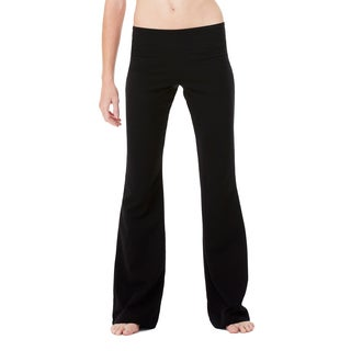 Women's Black Cotton and Spandex Fitness Pants (3 options available)