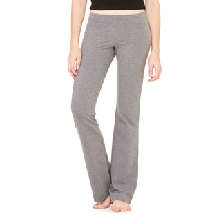Women's Deep Heather Cotton/Spandex Fitness Pant