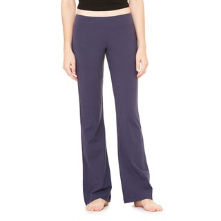 Cotton/Spandex Women's Fitness Pant Navy