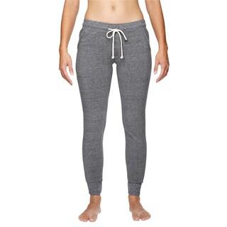 Women's Grey Fleece Eco Jogger Pants