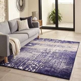 Machine Made Kasper Polypropylene & Polyester Rug (8'6 x 11'6)