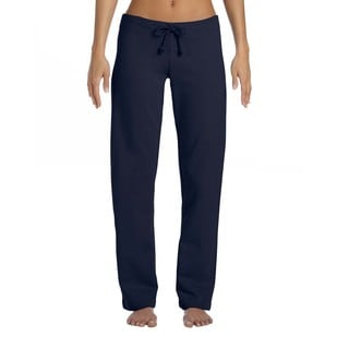 Women's Navy Blue Cotton Straight Leg Sweatpants