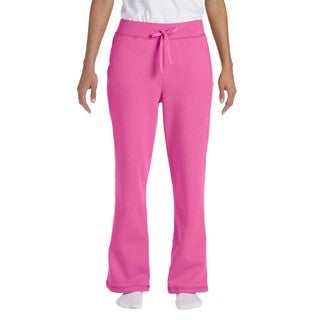 Women's Azalea Heavy Blend Open-bottom Sweatpants Azalea