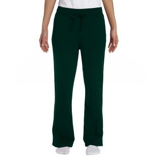 Gildan Women's Heavy-blend Open-Bottom Forest Green Sweatpants