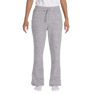 Gildan Women's Sport Grey Heavy-blend Open-bottom Sweatpants