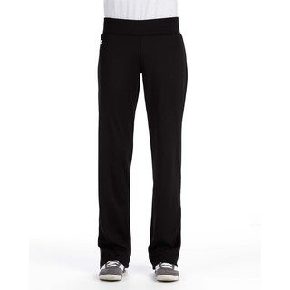 Women's Mid-rise Loose-fit Black Tech Fleece Pants