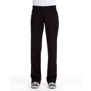 Women's Mid-rise Loose-fit Black Tech Fleece Pants