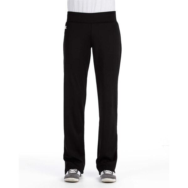 Women's Mid-rise Loose-fit Black Tech Fleece Pants. Opens flyout.
