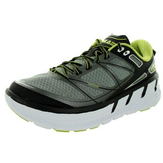 Hoka One One Men's M Odyssey Grey/Lime Running Shoe