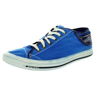 Diesel Men's Exposure Low I Snorkel Blue Lifestyle Shoe
