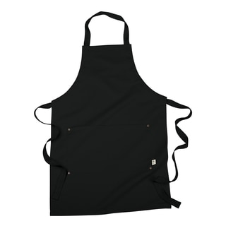 Organic Black Cotton/Recycled Polyester One-size-fits-all Eco Apron