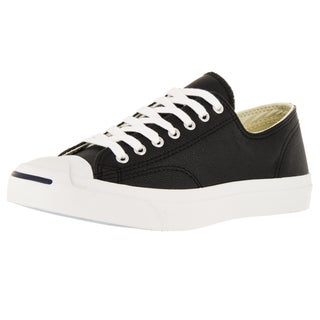 Converse Unisex Jack Purcell Lea Ox Black/White Casual Shoe