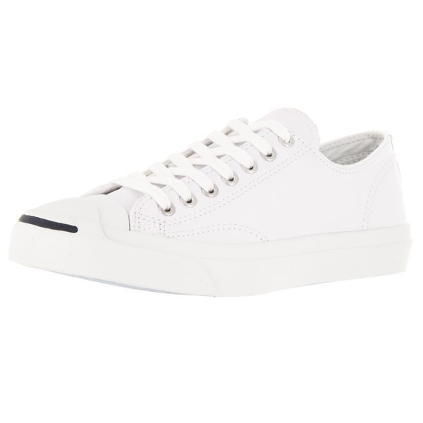 4e55384bf98 Shop Converse Unisex Jack Purcell Lea Ox White Navy Casual Shoe ...
