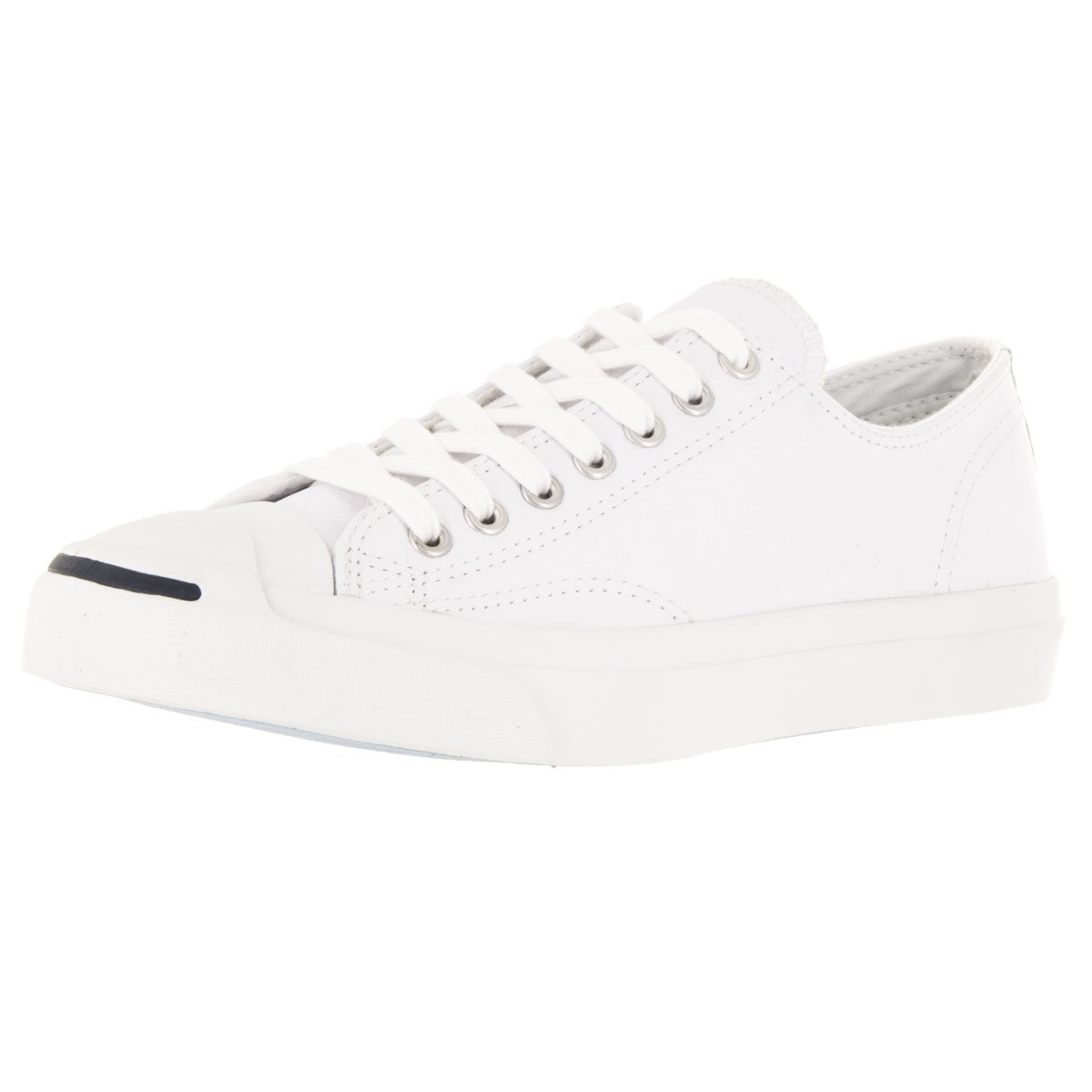 Converse Unisex Jack Purcell Lea Ox White/Navy Casual Sho...