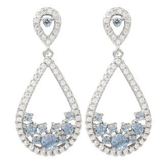 Luxiro Sterling Silver Cubic Zirconia Teardrop Dangle Earrings|https://ak1.ostkcdn.com/images/products/12319075/P19152172.jpg?impolicy=medium