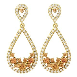 Luxiro Gold Finish Sterling Silver Cubic Zirconia Teardrop Dangle Earrings|https://ak1.ostkcdn.com/images/products/12319168/P19152174.jpg?impolicy=medium