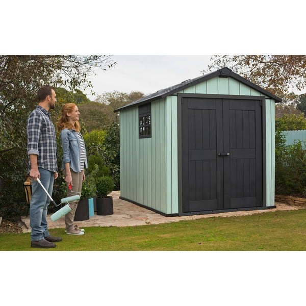 Attrayant Garden Sheds 7 X 9 Keter Duotech Oakland 75 X 9 Ft Customizable Outdoor  Storage