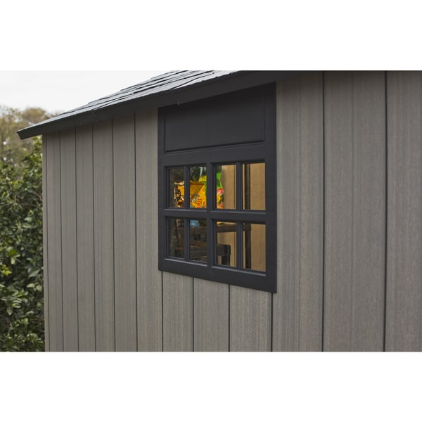 keter duotech oakland 75 x 9 ft customizable outdoor storage shed free shipping today overstockcom 19152158
