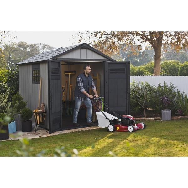 garden sheds 5 x 9 keter duotech oakland 75 x 9 ft customizable outdoor storage