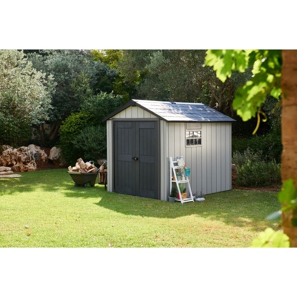 keter duotech oakland 75 x 9 ft customizable outdoor storage shed free shipping today overstockcom 19152158 - Garden Sheds 7 X 9