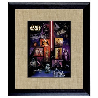 American Coin Treasures Star Wars U.S. Stamp Sheet in 16 x14 Wood Frame