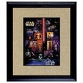 American Coin Treasures Star Wars U.S. Stamp Sheet in 16 x14 Wood Frame