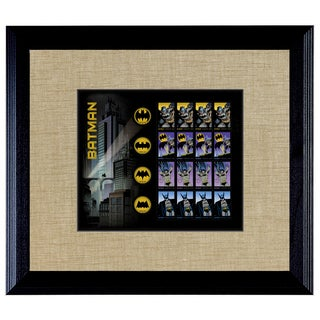 American Coin Treasures Batman U.S. Stamp Sheet in Black Wood Frame